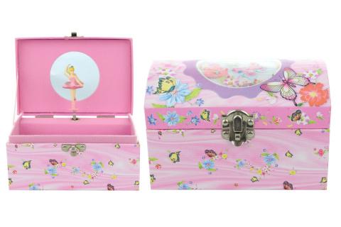 Hrací skříňka šperkovnice motýli