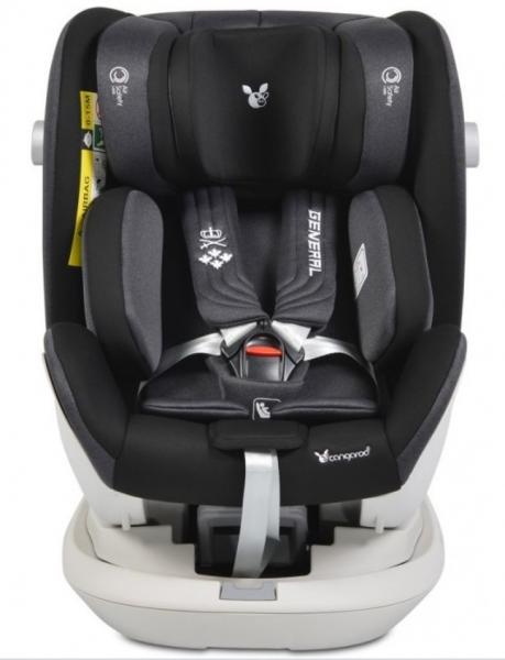 Cangaroo Autosedačka Hybrid 0 - 36 kg Isofix General s 360 ° otáčením - černá