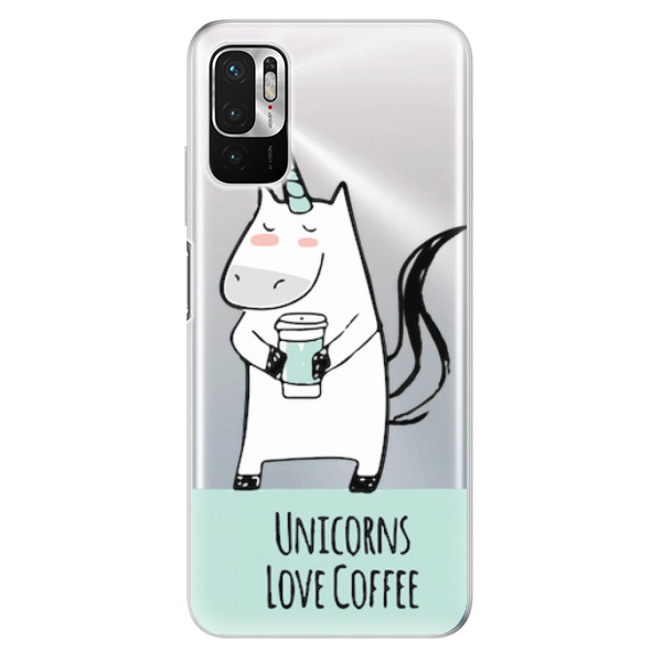 Odolné silikonové pouzdro iSaprio - Unicorns Love Coffee - Xiaomi Redmi Note 10 5G