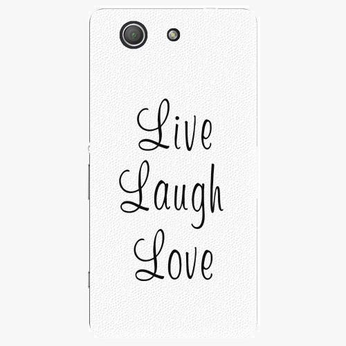 Plastový kryt iSaprio - Live Laugh Love - Sony Xperia Z3 Compact