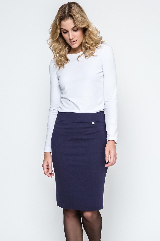 Pouzdrová sukně Ennywear 240127 - Tmavomodrá/34