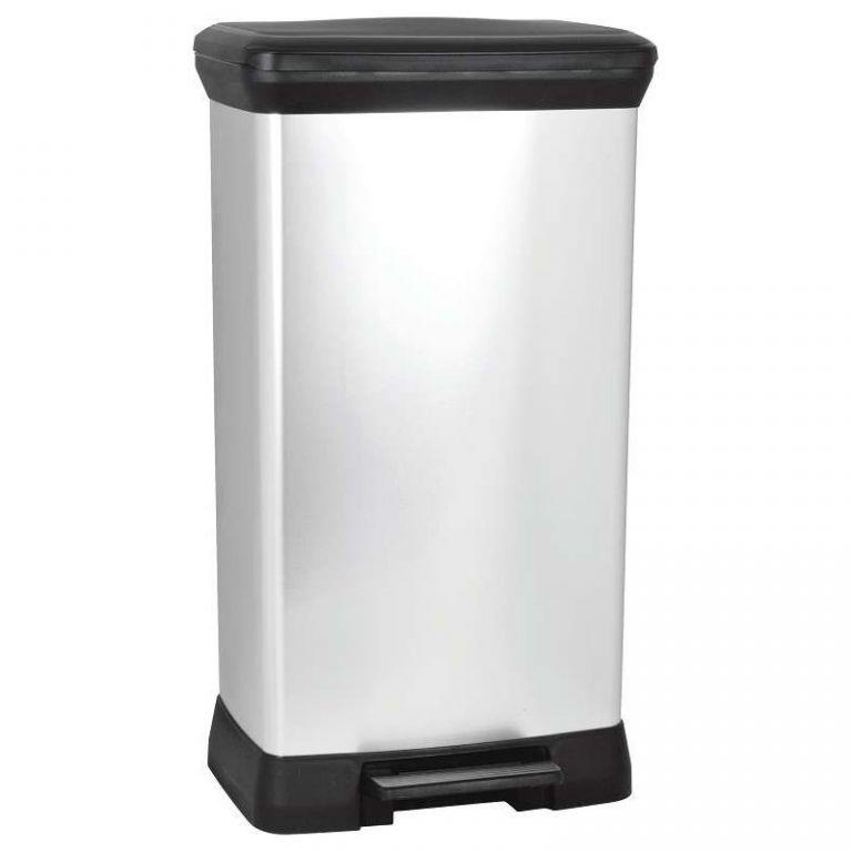 odpadkovy-kos-decobin-pedal-50l-stribrny-curver