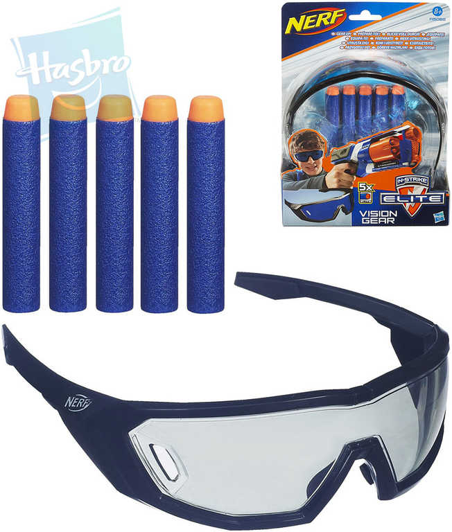 HASBRO NERF Elite set náhradní šipky 5ks + brýle ochranné Vision Gear