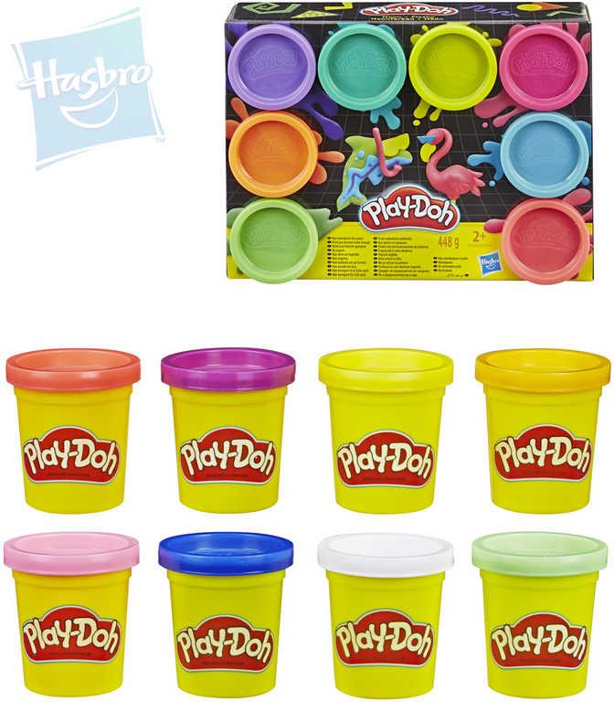 HASBRO PLAY-DOH Modelína dětská set 8 kelímků neonové barvy 2 druhy