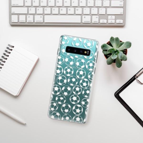 Plastové pouzdro iSaprio - Football pattern - white - Samsung Galaxy S10