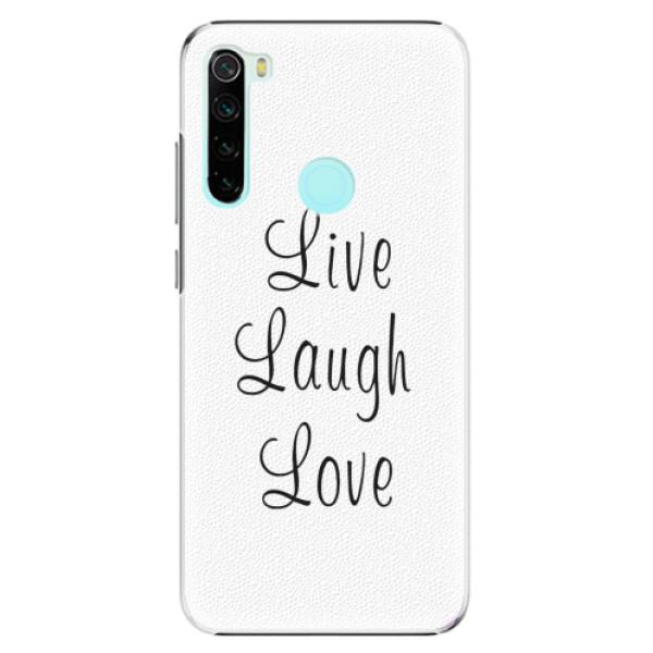 Plastové pouzdro iSaprio - Live Laugh Love - Xiaomi Redmi Note 8