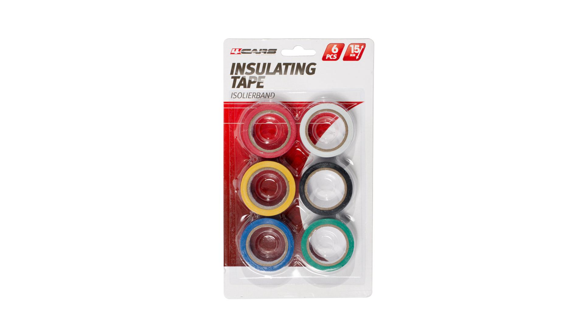 4CARS Izolační páska barevná 6ks, 15mm