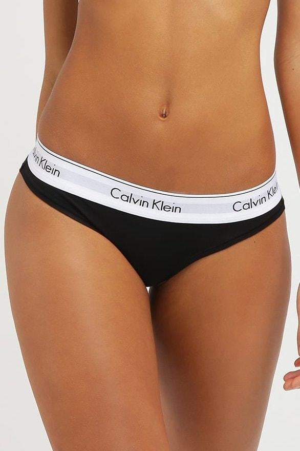 Dámské kalhotky CALVIN KLEIN Modern Cotton F3787E černé - XS