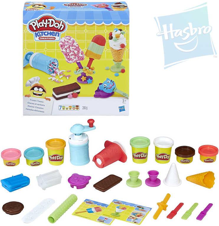 HASBRO PLAY-DOH Modelína zmrzlinářský set kelímek 7ks s doplňky v krabici