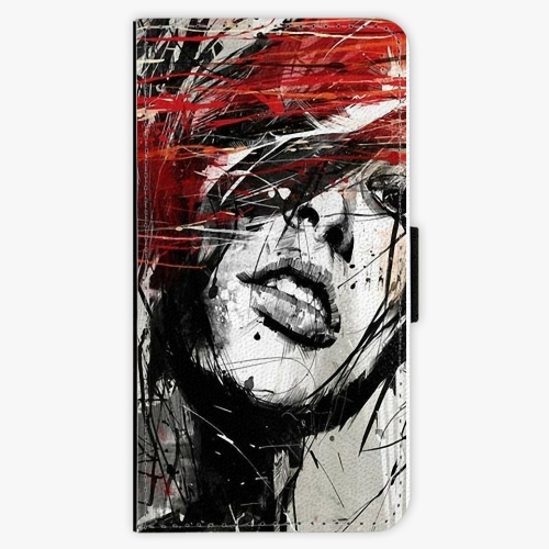 Flipové pouzdro iSaprio - Sketch Face - Samsung Galaxy J7 2017