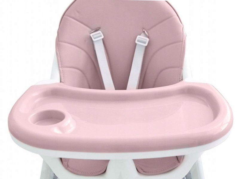 Eco toys Jídelní židlička, stoleček 2v1 - růžová
