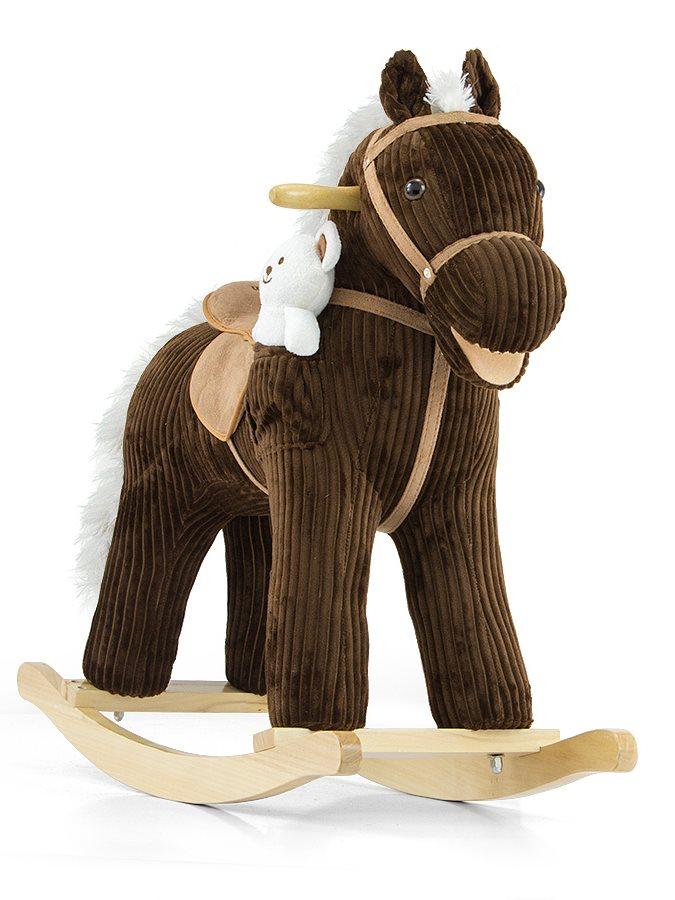 Houpací koník s melodií Milly Mally Pony - Bruno - hnědá