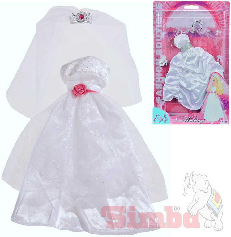 SIMBA Šaty Steffi svatební, nevěsta, panenka