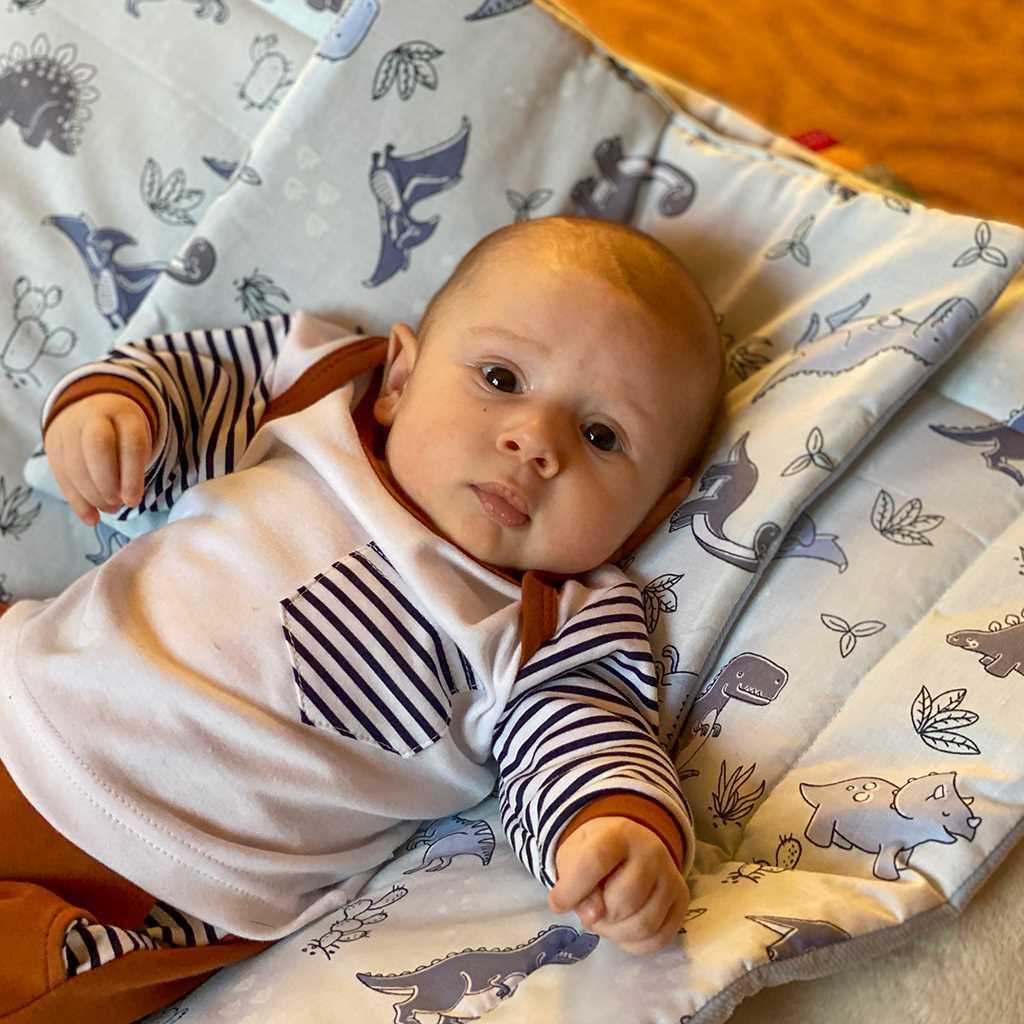 Oboustranný Set z Velvet do kočárku New Baby noční liška šedý - dle obrázku