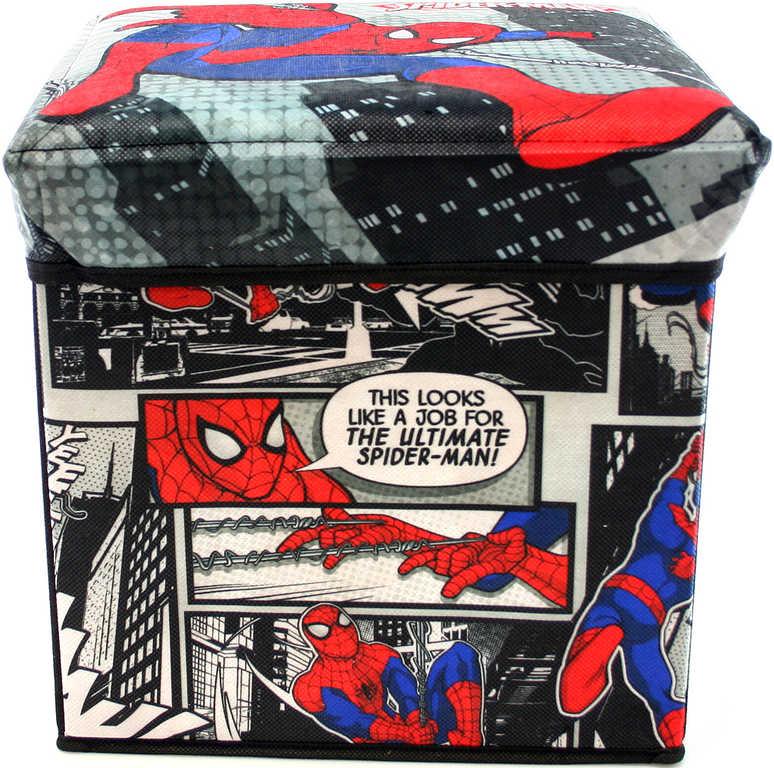 Box dětský úložný 32x32cm Spiderman krabice na hračky
