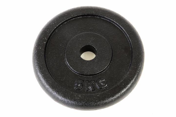 Fitness Závaží na činky 5 kg černé