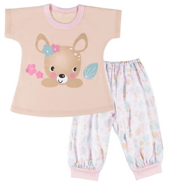 EEVI Dětské pyžamo Family - béžové, vel.