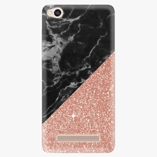 Plastový kryt iSaprio - Rose and Black Marble - Xiaomi Redmi 4A