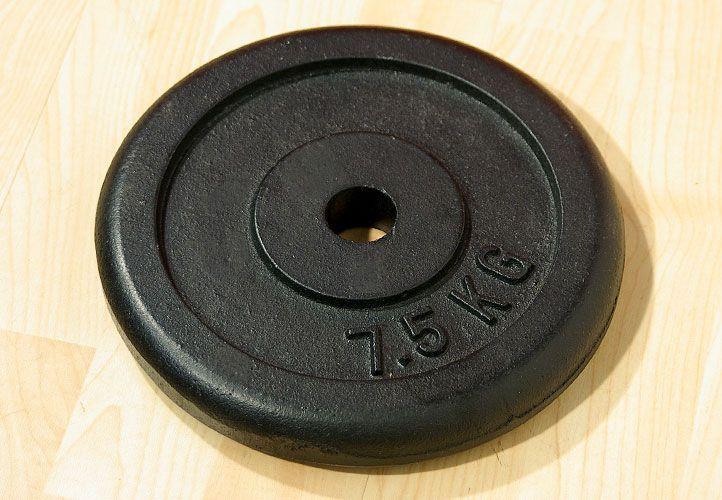 Závaží na činky 7,5 kg černé litina