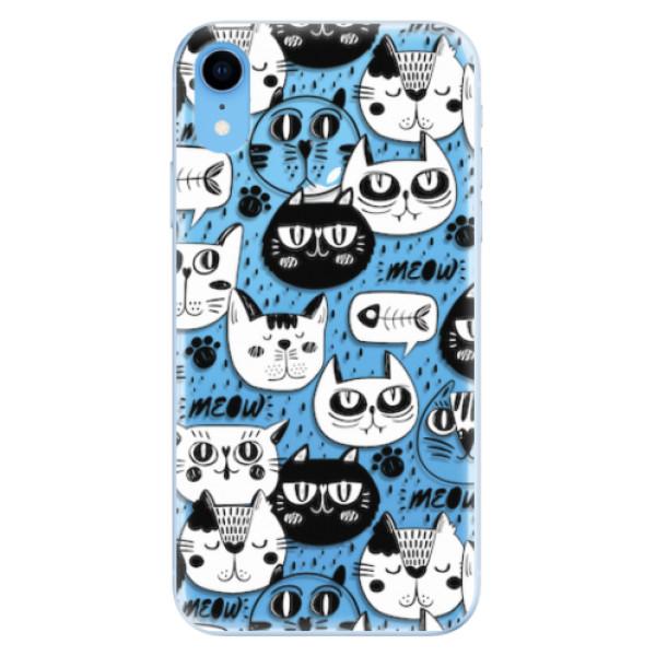 Odolné silikonové pouzdro iSaprio - Cat pattern 03 - iPhone XR