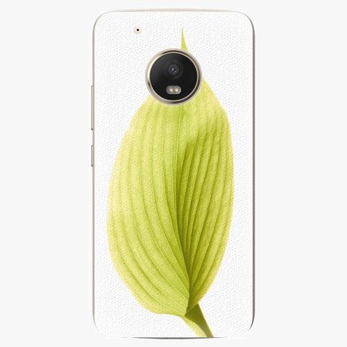 Plastový kryt iSaprio - Green Leaf - Lenovo Moto G5 Plus