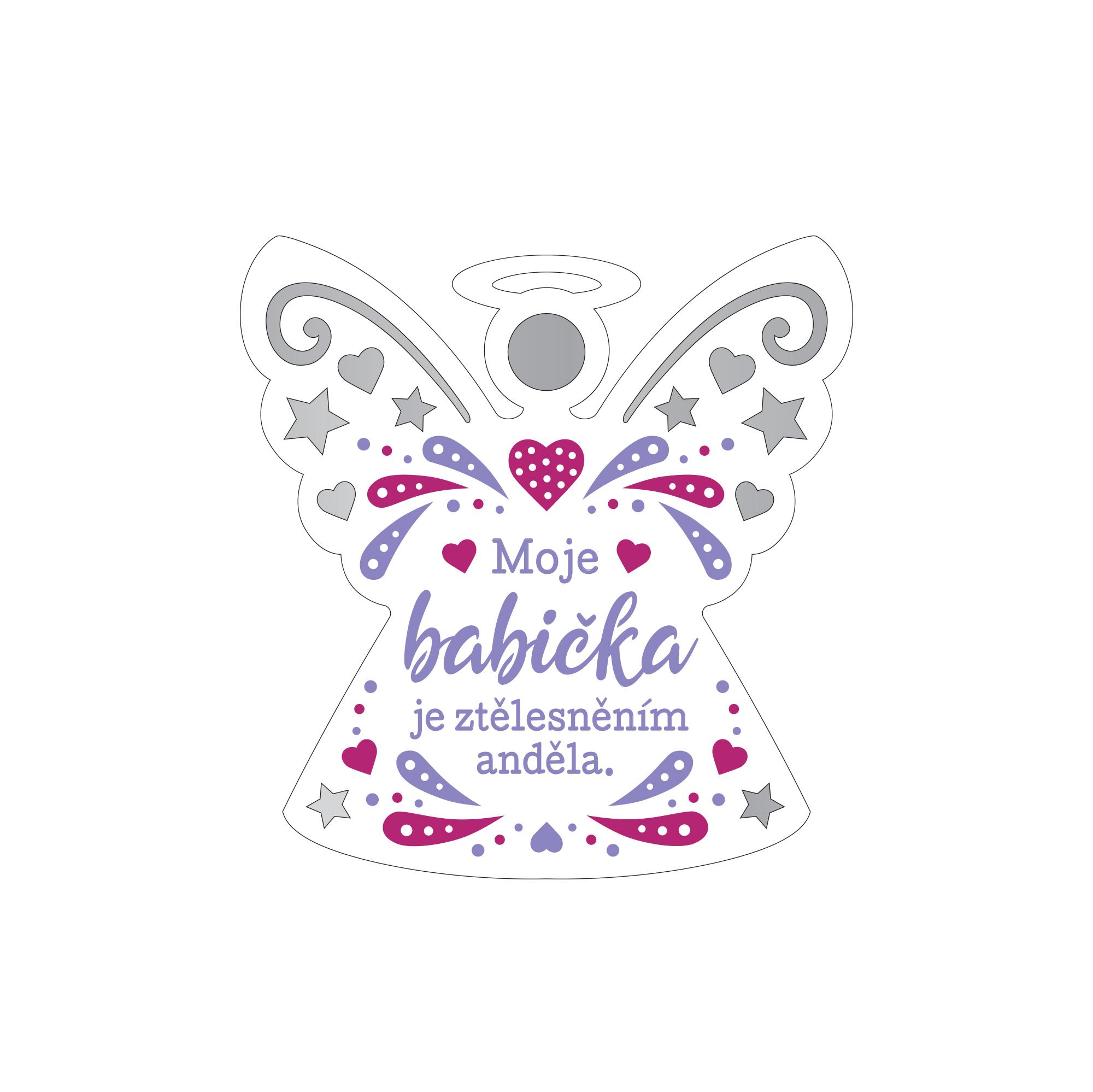 Plaketka anděl - Babička