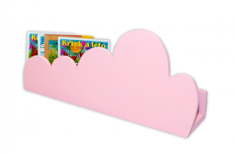 NELLYS Polička na stěnu Cloud - růžová