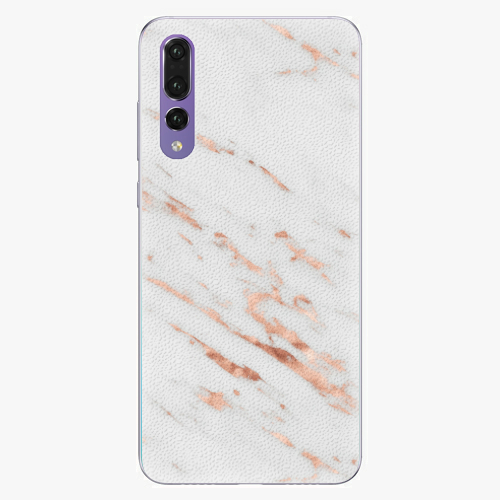Plastový kryt iSaprio - Rose Gold Marble - Huawei P20 Pro