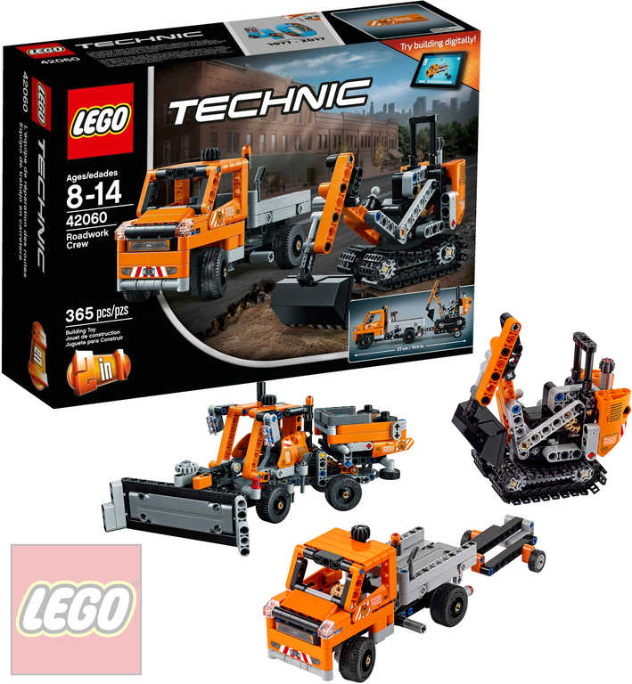 LEGO TECHNIC Silničáři 3v1 42060 STAVEBNICE