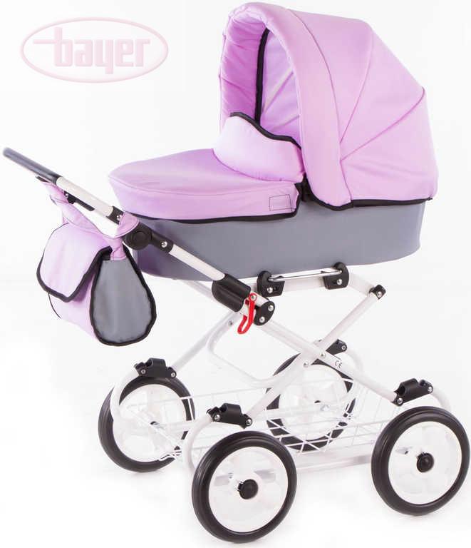 BAYER Kočárek dětský hluboký VIVA VIOLET pro panenku miminko