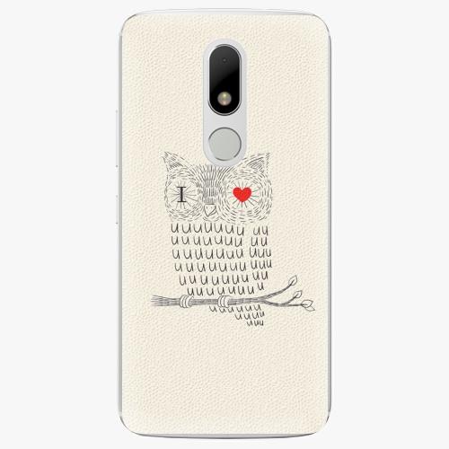 Plastový kryt iSaprio - I Love You 01 - Lenovo Moto M