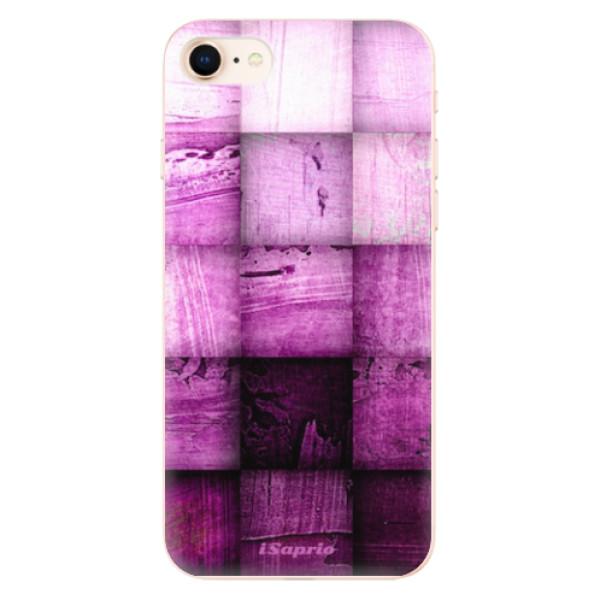 Odolné silikonové pouzdro iSaprio - Purple Squares - iPhone 8