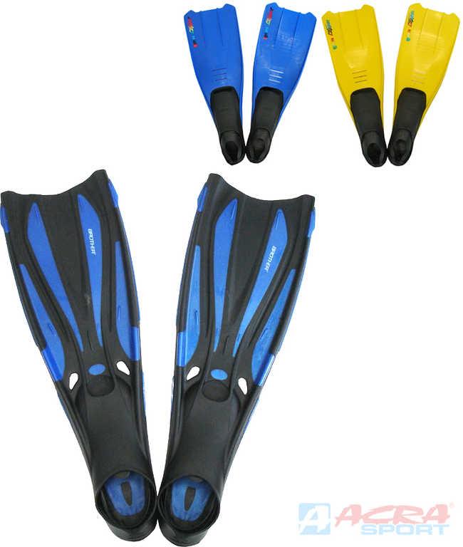 ACRA Ploutve potápěčské do vody vel. EU 41-43 modré Brother Coral guma