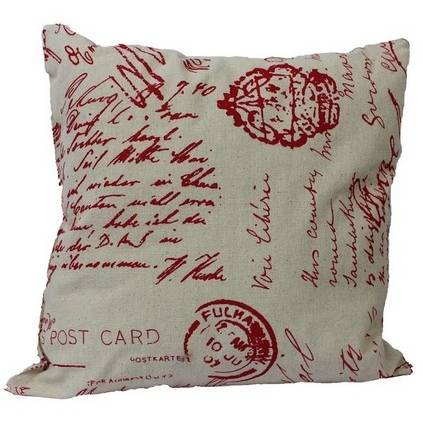 Dekorační polštář Dopis, červený