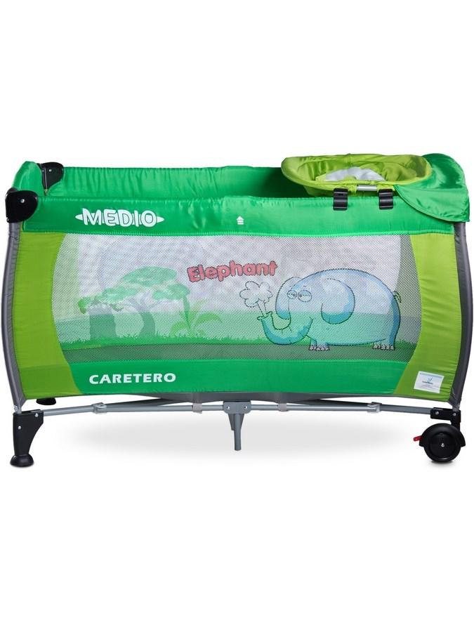 Cestovní postýlka CARETERO Medio - green - zelená