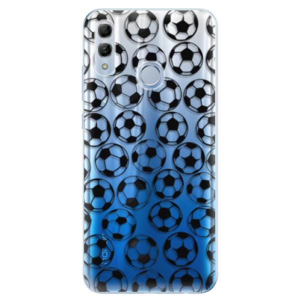 Odolné silikonové pouzdro iSaprio - Football pattern - black - Huawei Honor 10 Lite