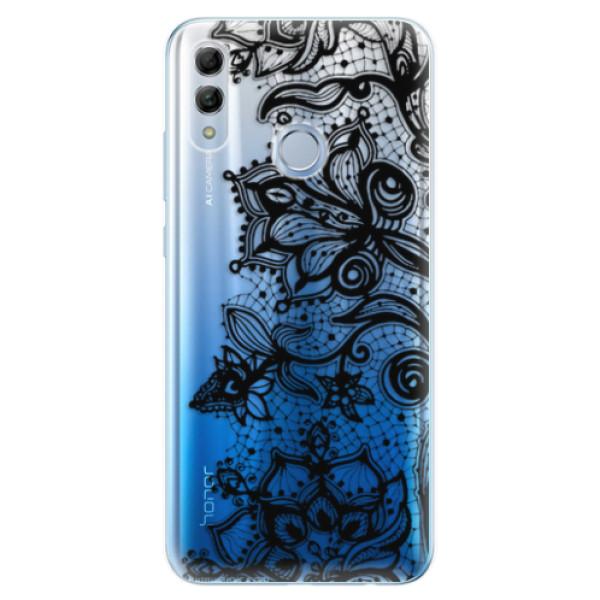 Odolné silikonové pouzdro iSaprio - Black Lace - Huawei Honor 10 Lite