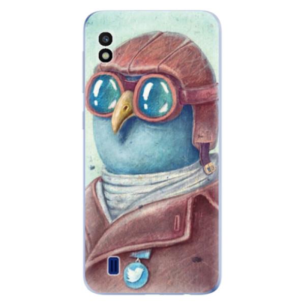 Odolné silikonové pouzdro iSaprio - Pilot twitter - Samsung Galaxy A10