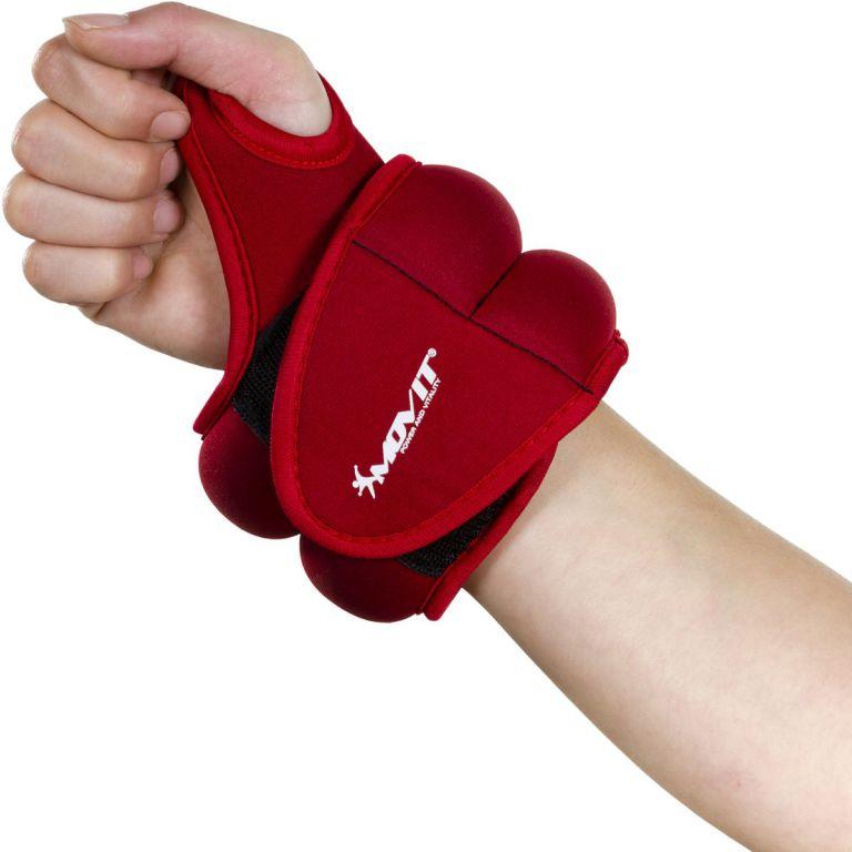 MOVIT neoprenová kondiční zátěž 0,5 kg, červená