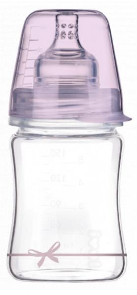 LOVI Skleněná lahvička 150 ml Diamond Glass - mašlička