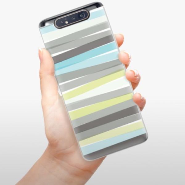 Odolné silikonové pouzdro iSaprio - Stripe - Samsung Galaxy A80