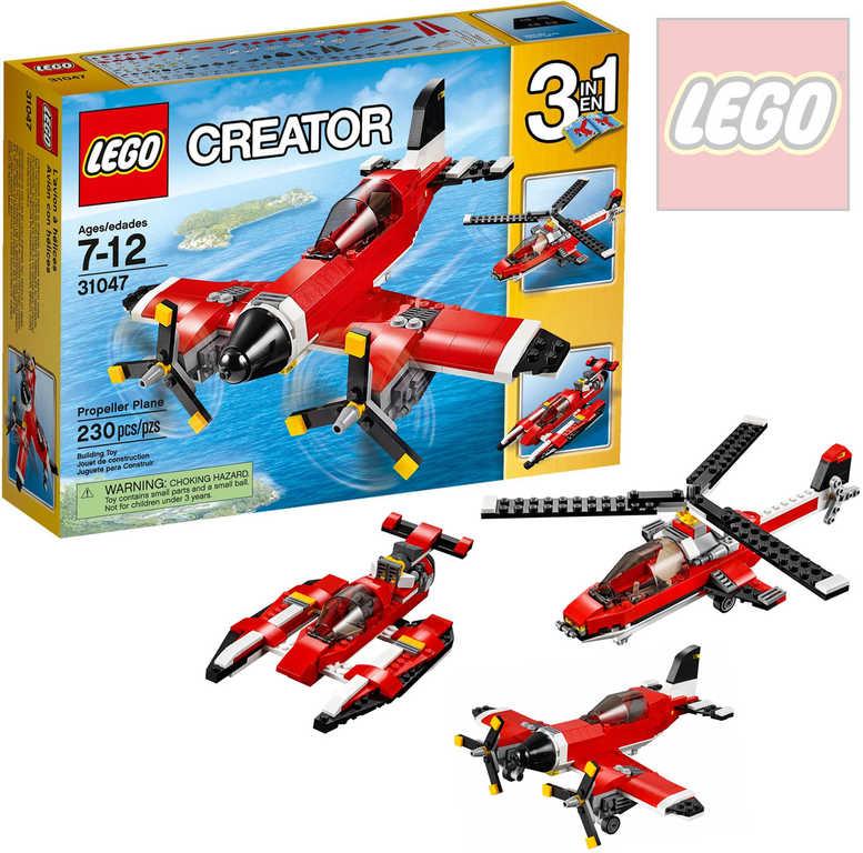 LEGO CREATOR Vrtulové letadlo 3v1 31047 STAVEBNICE