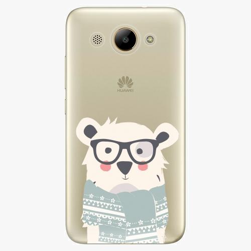 Plastový kryt iSaprio - Bear with Scarf - Huawei Y3 2017