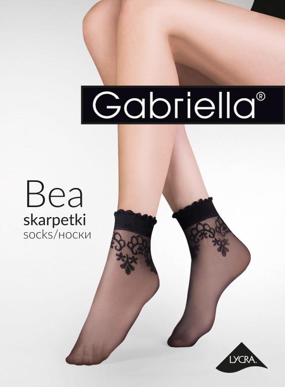 Dámské ponožky BEA 697 - Gabriella - Beige/uni