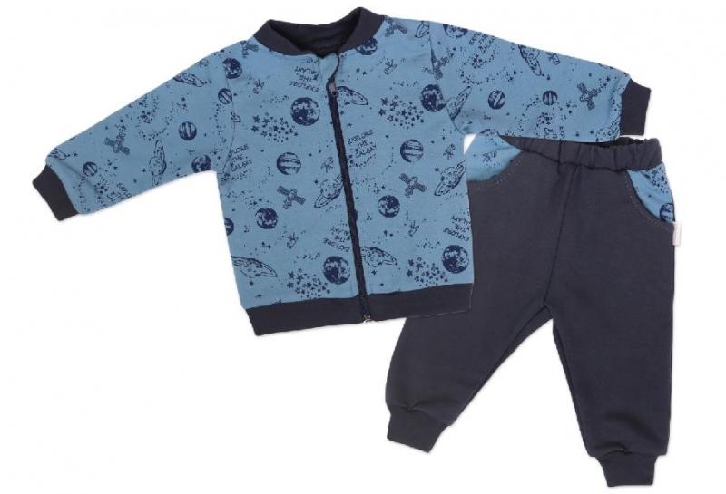mamatti-detska-teplakova-souprava-zapinani-na-zip-vesmir-modra-s-potiskem-vel-98-98-24-36m