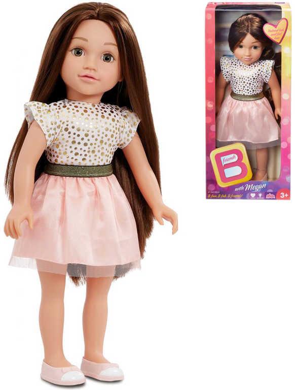 B-Friends panenka Megan 45cm dlouhé vlasy tmavovláska