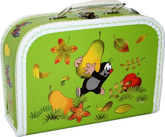 KAZETO Kufr KRTEK (krteček) světle zelený malý kufřík