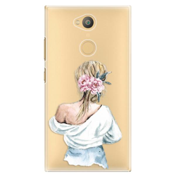 Plastové pouzdro iSaprio - Girl with flowers - Sony Xperia L2
