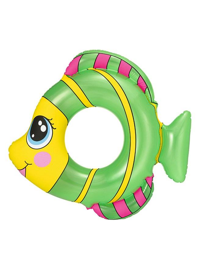 Dětský nafukovací kruh Bestway ve tvaru rybky - zelená