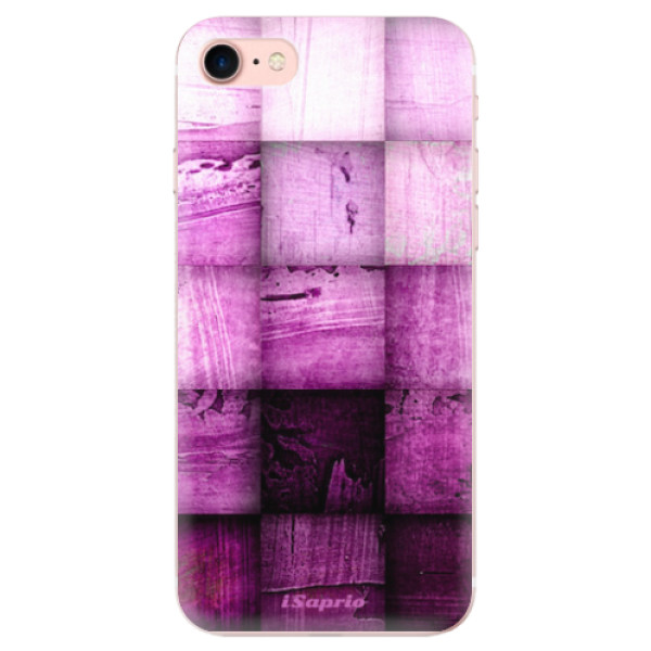 Odolné silikonové pouzdro iSaprio - Purple Squares - iPhone 7